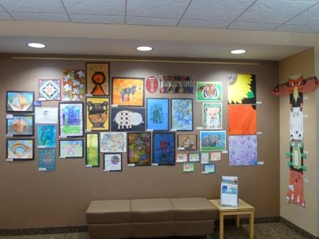 Artwork from the Annual All-School Art Show Exhibit at the River Falls Public Library